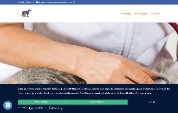 Vorschau von www.tierarzt-dr-mayerhauser.de, Kleintierpraxis Dr. Mayerhauser