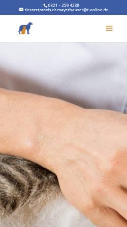 Vorschau der mobilen Webseite www.tierarzt-dr-mayerhauser.de, Kleintierpraxis Dr. Mayerhauser