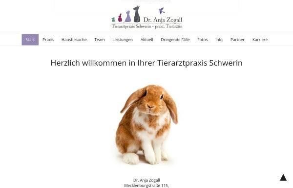 Vorschau von www.tierarztpraxis-schwerin.de, Dr. Anja Zogall, praktische Tierärztin