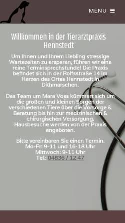 Vorschau der mobilen Webseite www.tierarzt-hennstedt.de, Tierarztpraxis Georg Hentscher