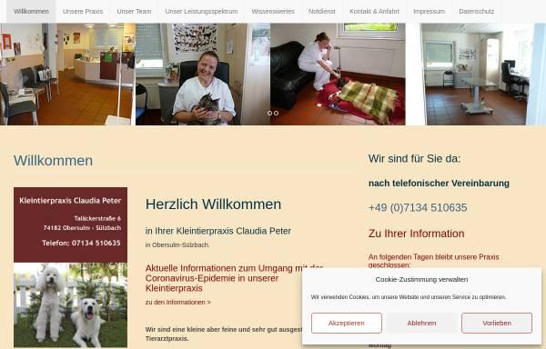 Vorschau von www.kleintierpraxis-claudia-peter.de, Kleintierpraxis Claudia Peter
