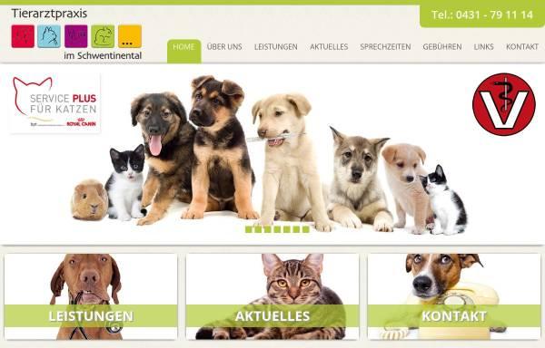 Vorschau von www.tierarzt-im-schwentinental.de, Tierarztpraxis im Schwentinetal