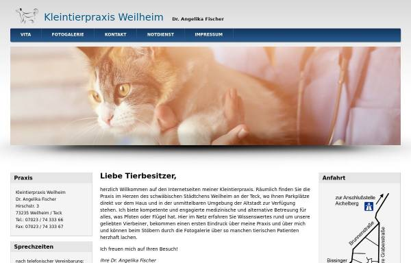 Vorschau von www.tierarztpraxis-weilheim.de, Kleintierpraxis Weilheim