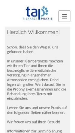 Vorschau der mobilen Webseite www.tap-neuerkirch.de, Tierarztpraxis Neuerkirch