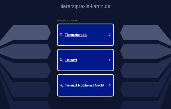 Vorschau von www.tierarztpraxis-karrin.de, Kleintierpraxen Dr. Claudia Bender