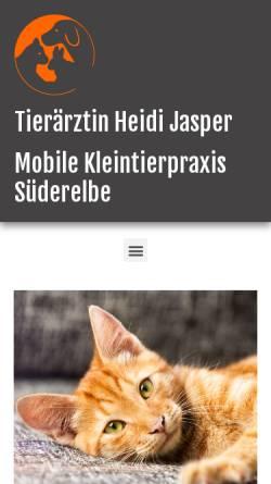 Vorschau der mobilen Webseite www.tierarzt-suederelbe.de, Mobile Kleintierpraxis Süderelbe