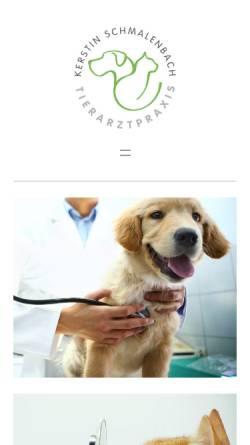 Vorschau der mobilen Webseite www.tierarztpraxis-bad-breisig.de, Tierarztpraxis Kerstin Schmalenbach