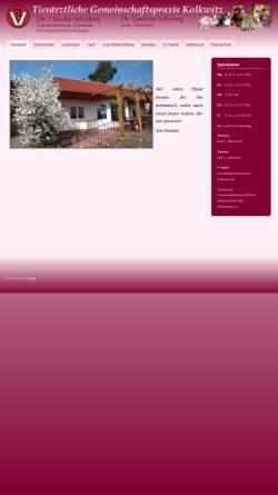 Vorschau der mobilen Webseite www.tierarztpraxis-kolkwitz.de, Tierärztliche Gemeinschaftspraxis Kolkwitz Dres. Berger & Schubert