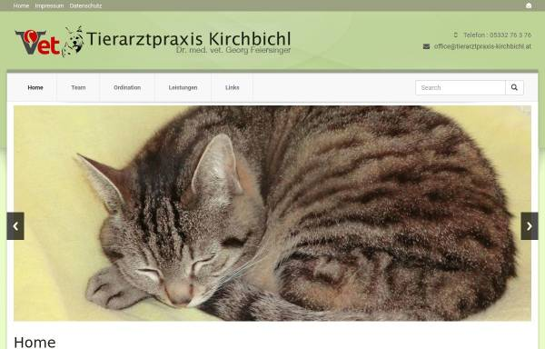 Vorschau von www.tierarztpraxis-kirchbichl.at, Tierarztpraxis Dr. med. vet. Georg Feiersinger