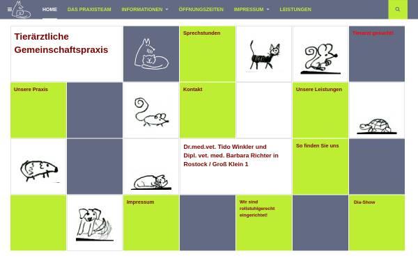 Vorschau von www.tierarzt-rostock.de, Tierärztliche Gemeinschaftspraxis Dr. med.vet. Tido Winkler/ Dipl. vet.med. Barbara Richter