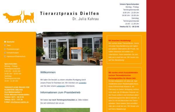 Vorschau von www.tierarzt-dielfen.de, Tierärztliche Praxis für Kleintiere Delfen