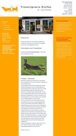 Vorschau der mobilen Webseite www.tierarzt-dielfen.de, Tierärztliche Praxis für Kleintiere Delfen