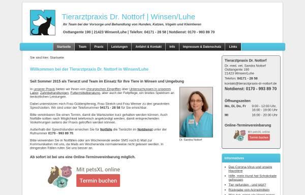 Vorschau von www.tierarztpraxis-dr-nottorf.de, Tierarztpraxis Dr. Sandra Nottorf