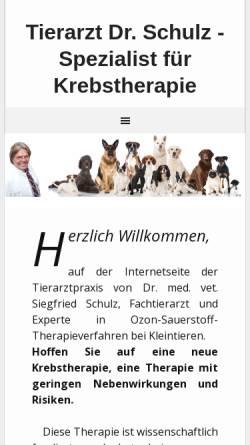Vorschau der mobilen Webseite neuekrebstherapie-kleintierpraxis.de, Dr. med. vet. Siegfried Schulz