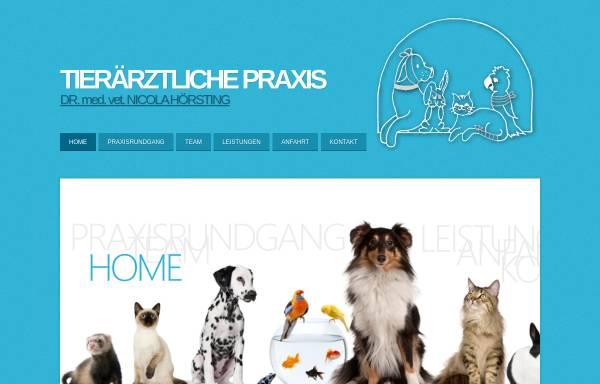 Vorschau von www.hoersting.eu, Tierärztliche Praxis Dr. med. vet. Nicola Hörsting