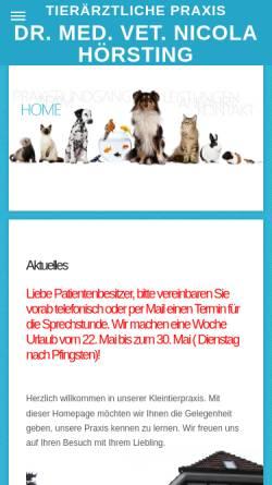 Vorschau der mobilen Webseite www.hoersting.eu, Tierärztliche Praxis Dr. med. vet. Nicola Hörsting