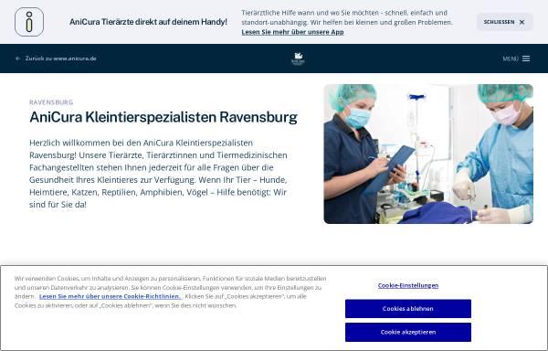 Vorschau von www.anicura.de, AniCura Kleintierspezialisten Ravensburg GmbH