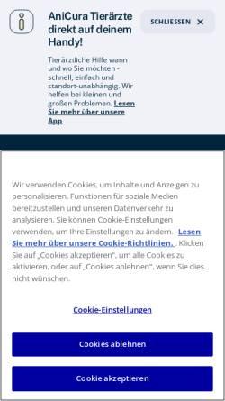 Vorschau der mobilen Webseite www.anicura.de, AniCura Kleintierspezialisten Ravensburg GmbH