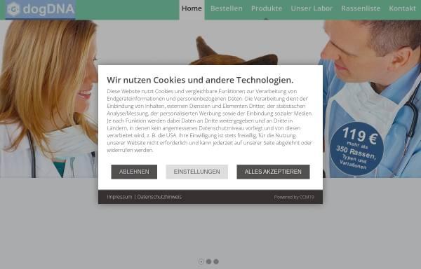 Vorschau von www.dogdna.de, Dog DNA - Galantos Genetics