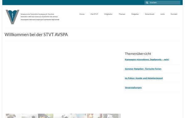 Vorschau von www.stvt.ch, Schweizerische Tierärztliche Vereinigung für Tierschutz STVT