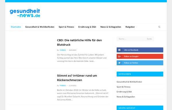 Vorschau von www.gesundheit-news.de, Gesundheit News Deutschland