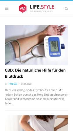 Vorschau der mobilen Webseite www.gesundheit-news.de, Gesundheit News Deutschland
