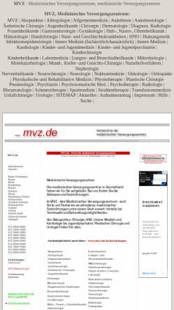 Vorschau der mobilen Webseite www.mvz.de, Verzeichnis der Medizinischen Versorgungszentren