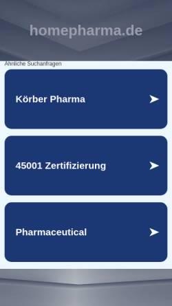Vorschau der mobilen Webseite homepharma.de, Homepharma.de