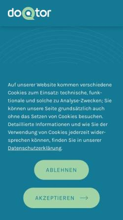 Vorschau der mobilen Webseite www.doqtor.de, Doqtor