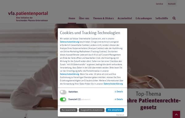 Vorschau von www.vfa-patientenportal.de, Patienten.de