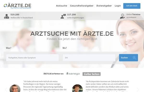 Vorschau von www.aerzte.de, Ärzte.de