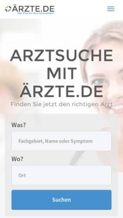 Vorschau der mobilen Webseite www.aerzte.de, Ärzte.de