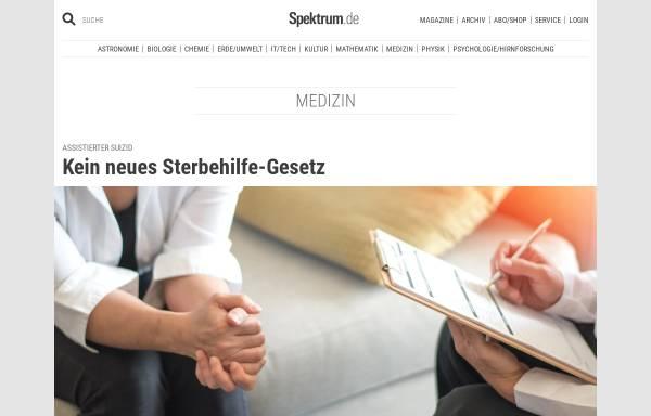 Vorschau von www.spektrum.de, Spektrum Medizin