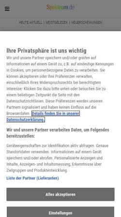 Vorschau der mobilen Webseite www.spektrum.de, Spektrum Medizin