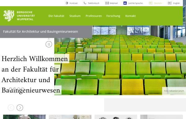 Vorschau von www.arch.uni-wuppertal.de, Architektur