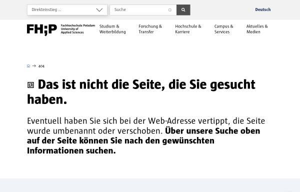 Vorschau von www.fh-potsdam.de, Fachhochschule Potsdam - Fachbereich Architektur und Städtebau!