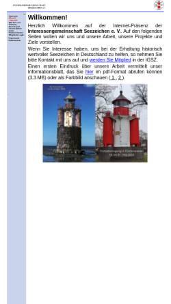 Vorschau der mobilen Webseite www.ig-seezeichen.de, Interessengemeinschaft Seezeichen
