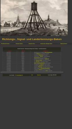 Vorschau der mobilen Webseite www.baken-net.de, Seezeichen an der deutschen Küste