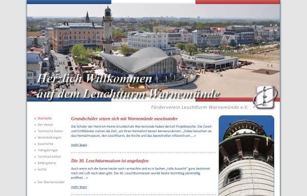 Vorschau von www.warnemuende-leuchtturm.de, Leuchtturm Warnemünde