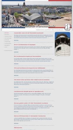 Vorschau der mobilen Webseite www.warnemuende-leuchtturm.de, Leuchtturm Warnemünde