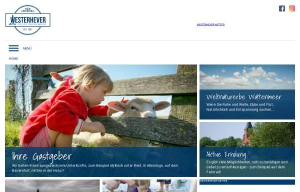 Vorschau von www.westerhever-nordsee.de, Leuchtturm Westerheversand