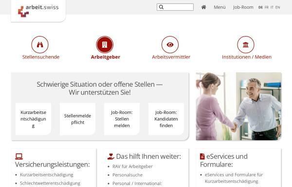 Vorschau von www.arbeit.swiss, Treffpunkt-Arbeit