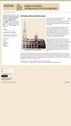 Vorschau der mobilen Webseite www.kirchenbau-dokumentation.de, KIDOK - Kirchenbaudokumentationsbüro