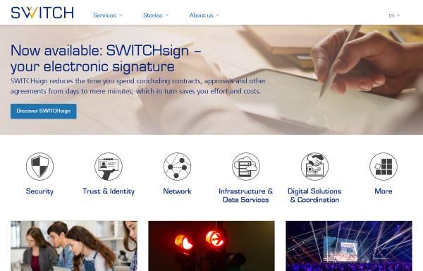 Vorschau von www.switch.ch, SWITCH The Swiss Education and Research Network