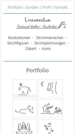 Vorschau der mobilen Webseite www.lineamentum.de, Wedler, Ferdinand