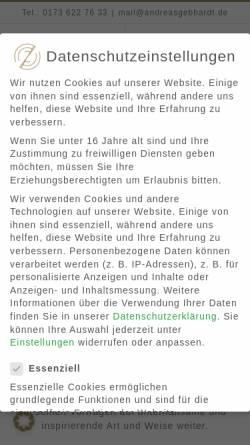 Vorschau der mobilen Webseite www.andytainment.de, Andy Gebhardt