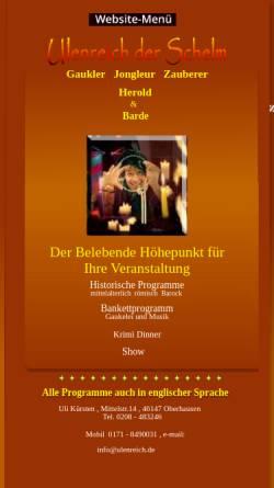 Vorschau der mobilen Webseite www.ulenreich.de, Ulenreich der Schelm