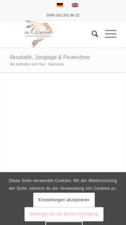 Vorschau der mobilen Webseite www.flugtraeumer.de, Die Flugträumer