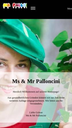 Vorschau der mobilen Webseite www.mr-palloncini.ch, Mr Palloncini