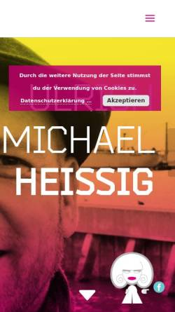 Vorschau der mobilen Webseite www.irmgardknef.de, Ulrich Michael Heissig